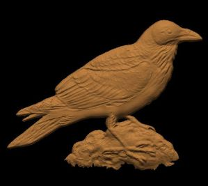 This is an image of a free cnc pattern of raven.