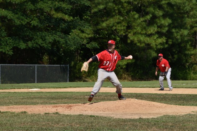 Tom Stankus prepares to pitch against the Rebels on 7/18/2020