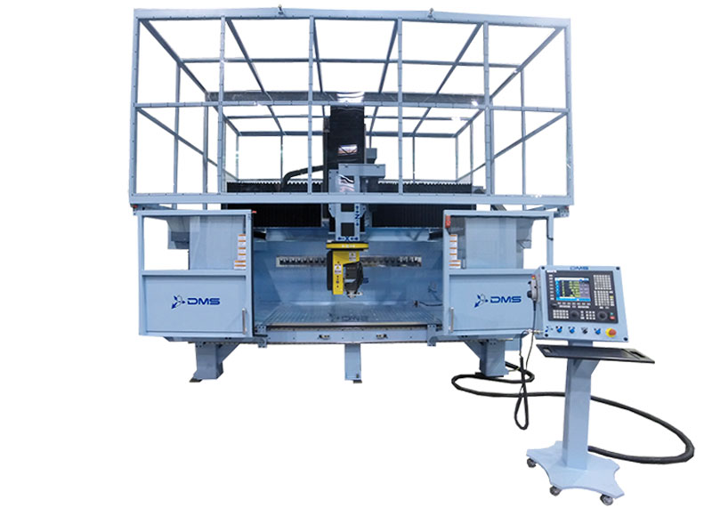 DMS 5 Axis Enclosed Overhead Gantry CNC Machine