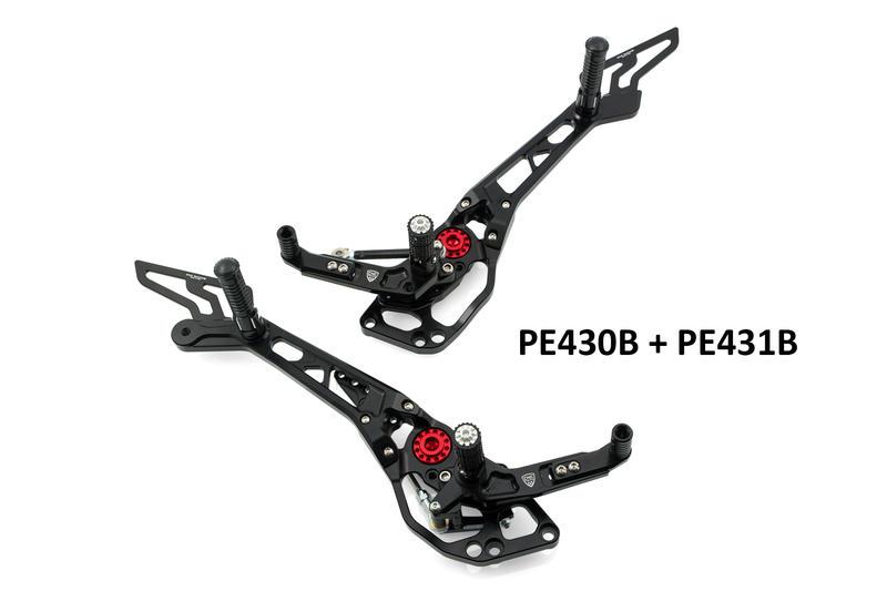 Adjustable rear sets passenger Ducati Hypermotard 821/939