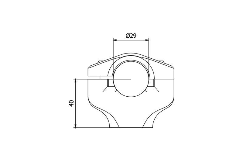 Riser complete for handlebar Ø 29mm H 40mm Ducati