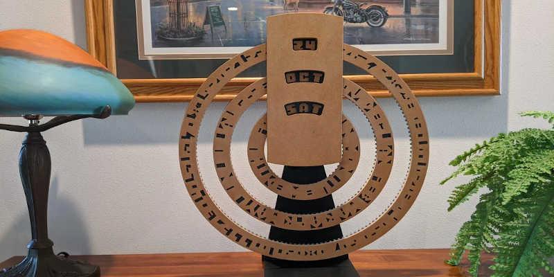 CNC automatic cryptic calendar