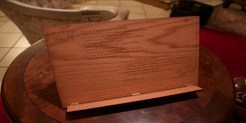 CNC Projects that Sell Book Holder Desktop