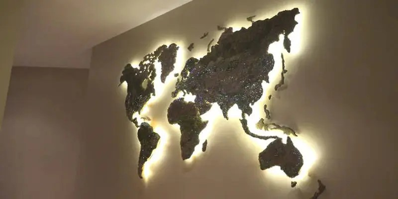 CNC Projects that Sell World Map Wall Hanging