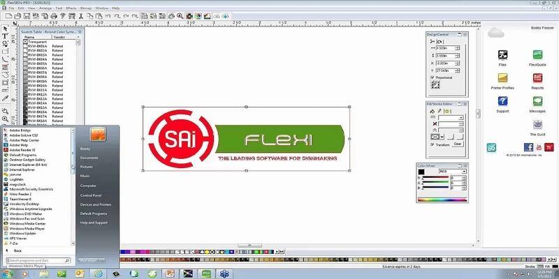 Sai Flexi vinyl cutter software