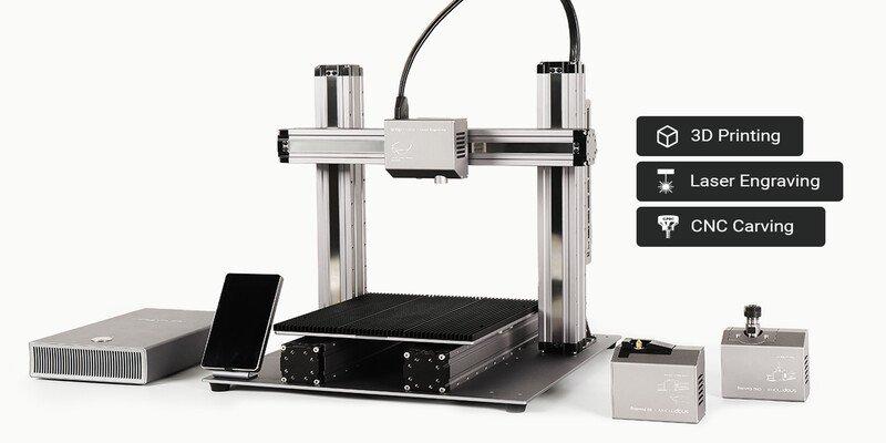 SnapMaker 2.0 Modular 3-in-1 metal laser cutter
