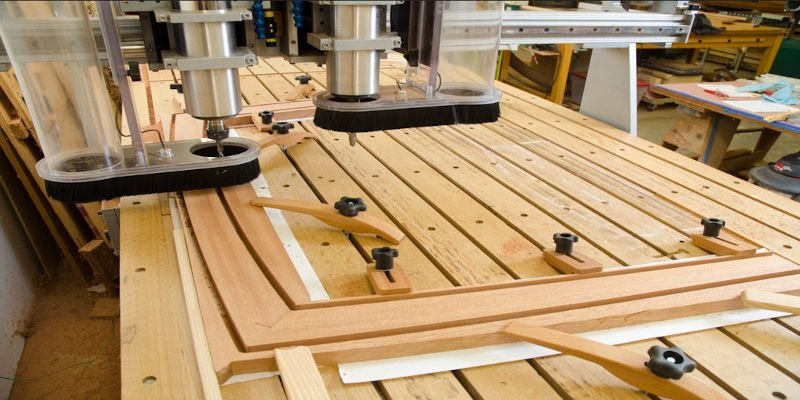 A piece of wooden furniture creating using CNC