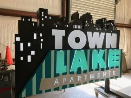 Custom Monument Signs for Town Lake Apartments in Austin, TX