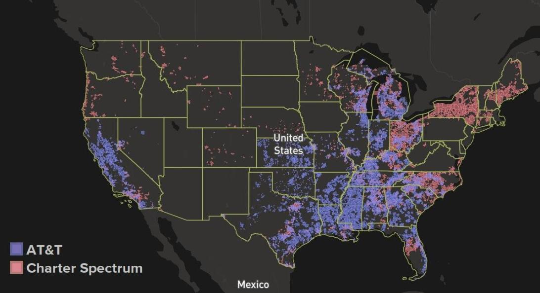 at-t-internet-vs-charter-spectrum-coverage-map