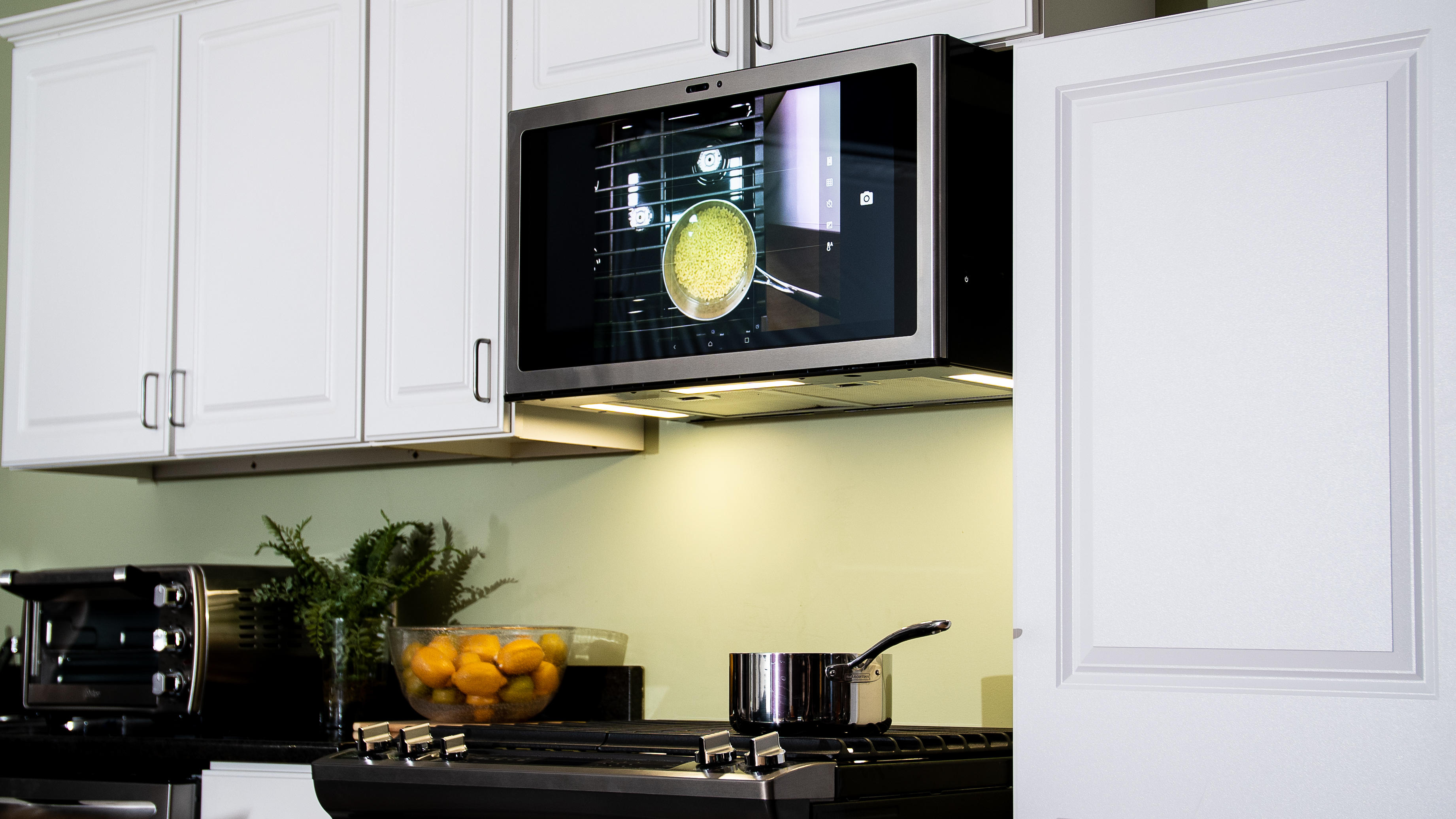 this giant android tablet is ge s smart kitchen command center