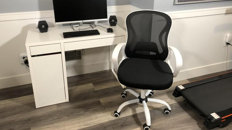 berlman mid back mesh chair black and white