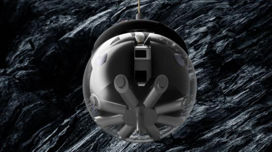 """A """"hanging hamster ball"""" robot could explore caves on the moon"""