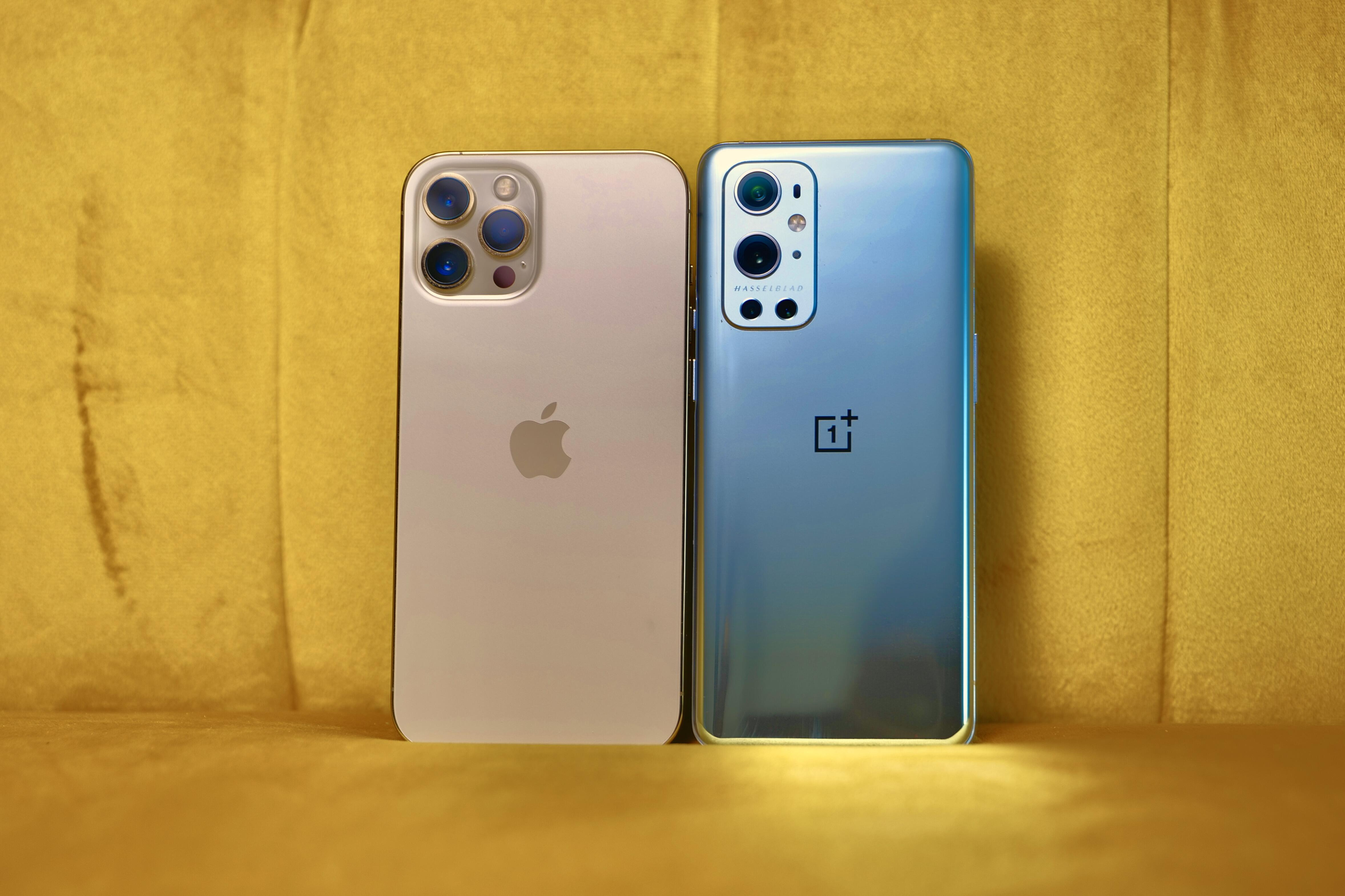 iPhone 12 Pro Max and OnePlus 9 Pro