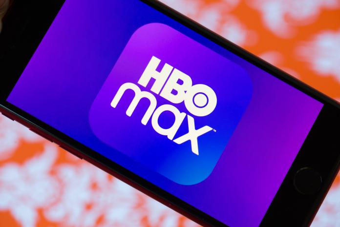 HBO Max logo on a phone