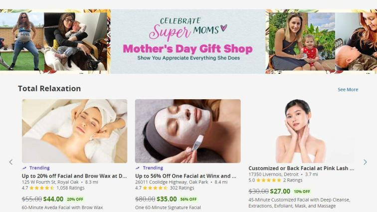 groupon mothers day gift shop