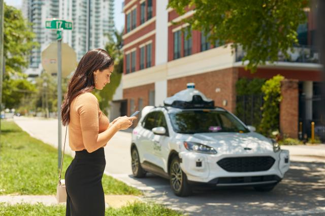Ford self-driving car with Lyft