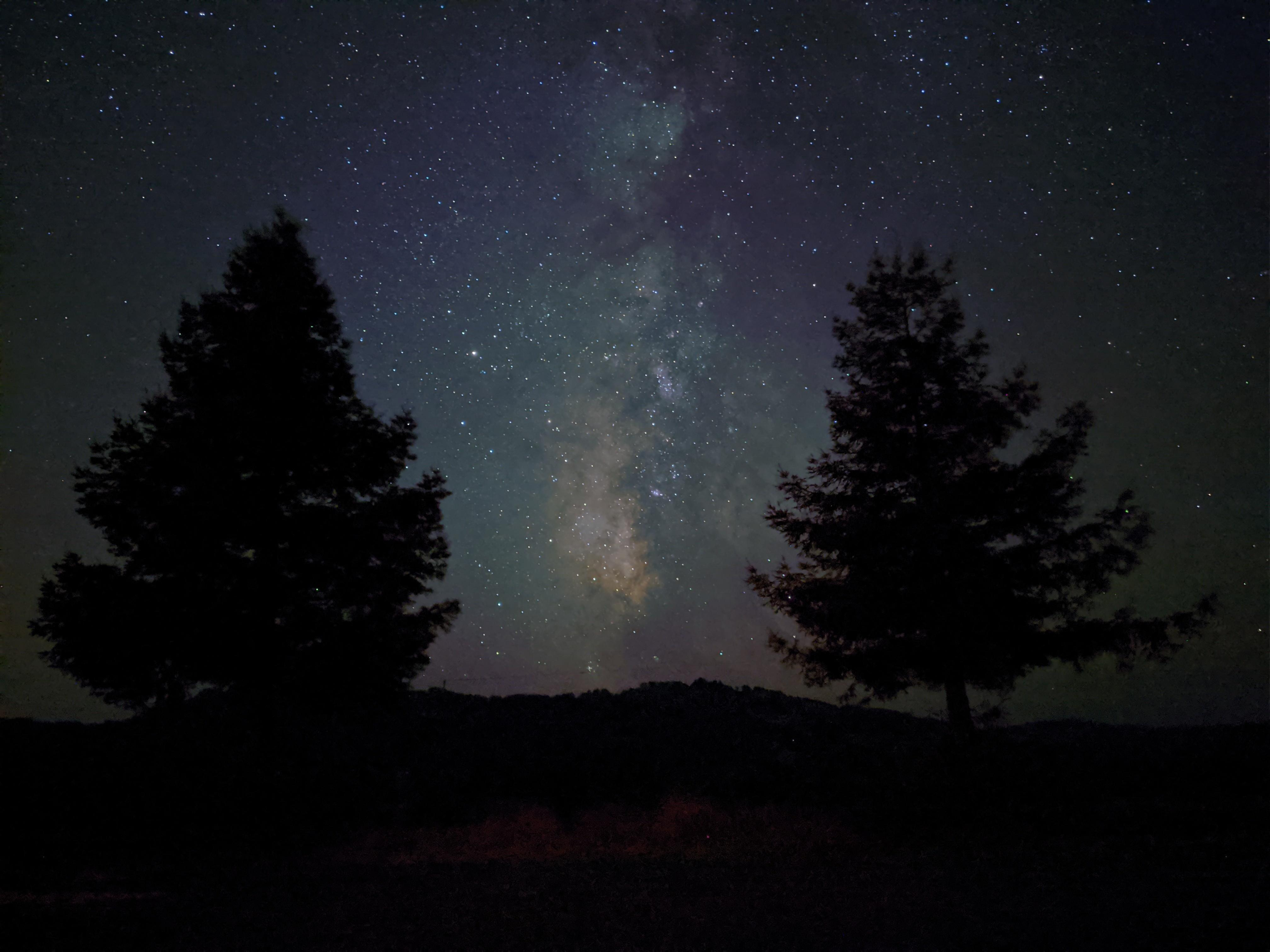 The Pixel 4's Night Sight mode can photograph the Milky Way and individual stars -- if the sky is clear enough.