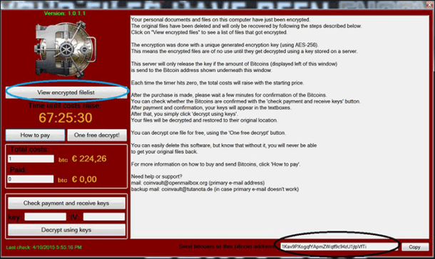 Ransomware Coinvault