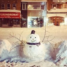 snowman in New York city