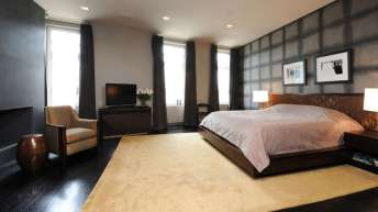 The bedroom at 285 Lafayette Street.