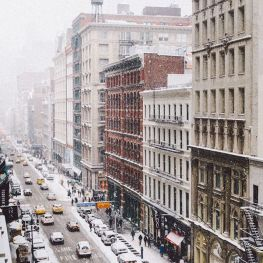 New York City during the snowstorm