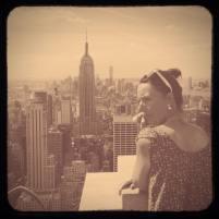 L'Empire State building depuis le Top of the Rock, façon années 50.