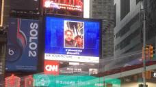 Sur Times Square, vous pourrez même apparaître sur un écran géan
