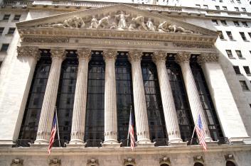 Les colonnes du New York Stock Exchange, le bourse de New York