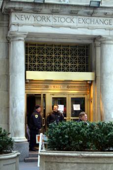 L'entrée des artistes... L'entrée de la bourse de New York