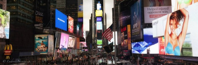 Vue panoramique de Times Square