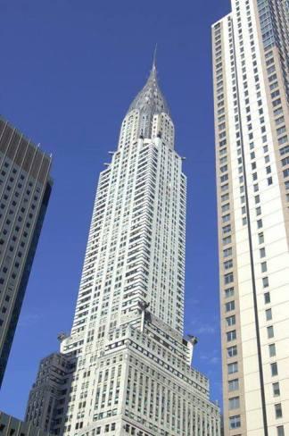 Le Chrysler building de bas en haut