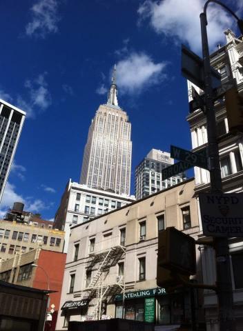 L'Empire State building par Isabelle Pierron Dalle.