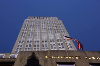 Au pied de l'Empire State building.