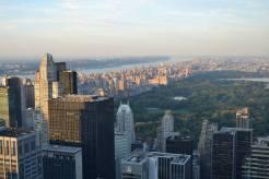 Vue sur le Nord de Manhattan et Central Park depuis le Top of the Rock