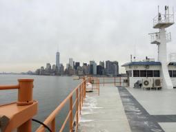 A bord du ferry de Staten Island hier. (Photo Nathalie)