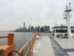 A bord du ferry de Staten Island. (Photo Nathalie)