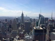 L'Empire State building et la pointe Sud de Manhattan depuis le Top of the Rock.