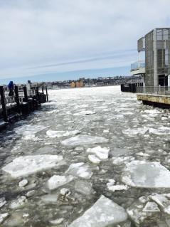 L'Hudson glacé. (Photo Stéphanie Attia)
