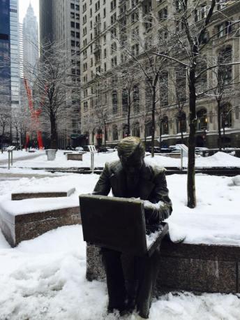 Pas grand monde dans le Financial District... (Photo Stéphanie Attia)