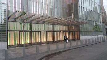 L'entrée de la One World Trade Center. (Photo Smain Stanley)
