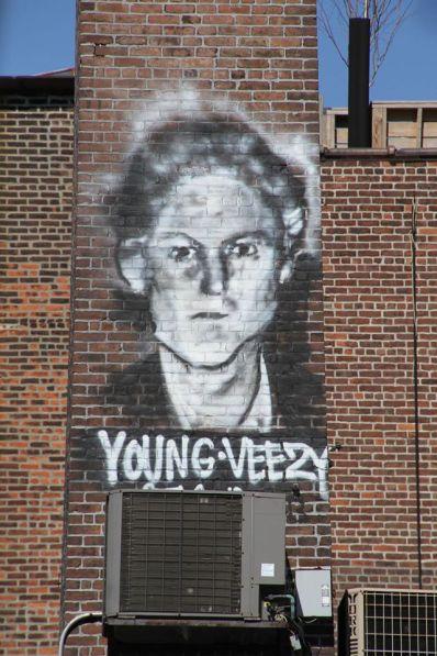 Une fresque sur la High Line. (Photo Daniel Beyly)