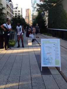 Un plan de la High Line. (Photo Fadila Bougjdi)
