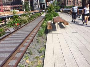 L'ancienne voie de chemin de fer. (Photo Ben VH)