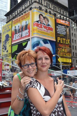 Times Square avec un photographe