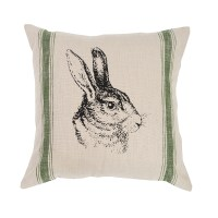 Bunny Feed Sack Pillow | C&F Home