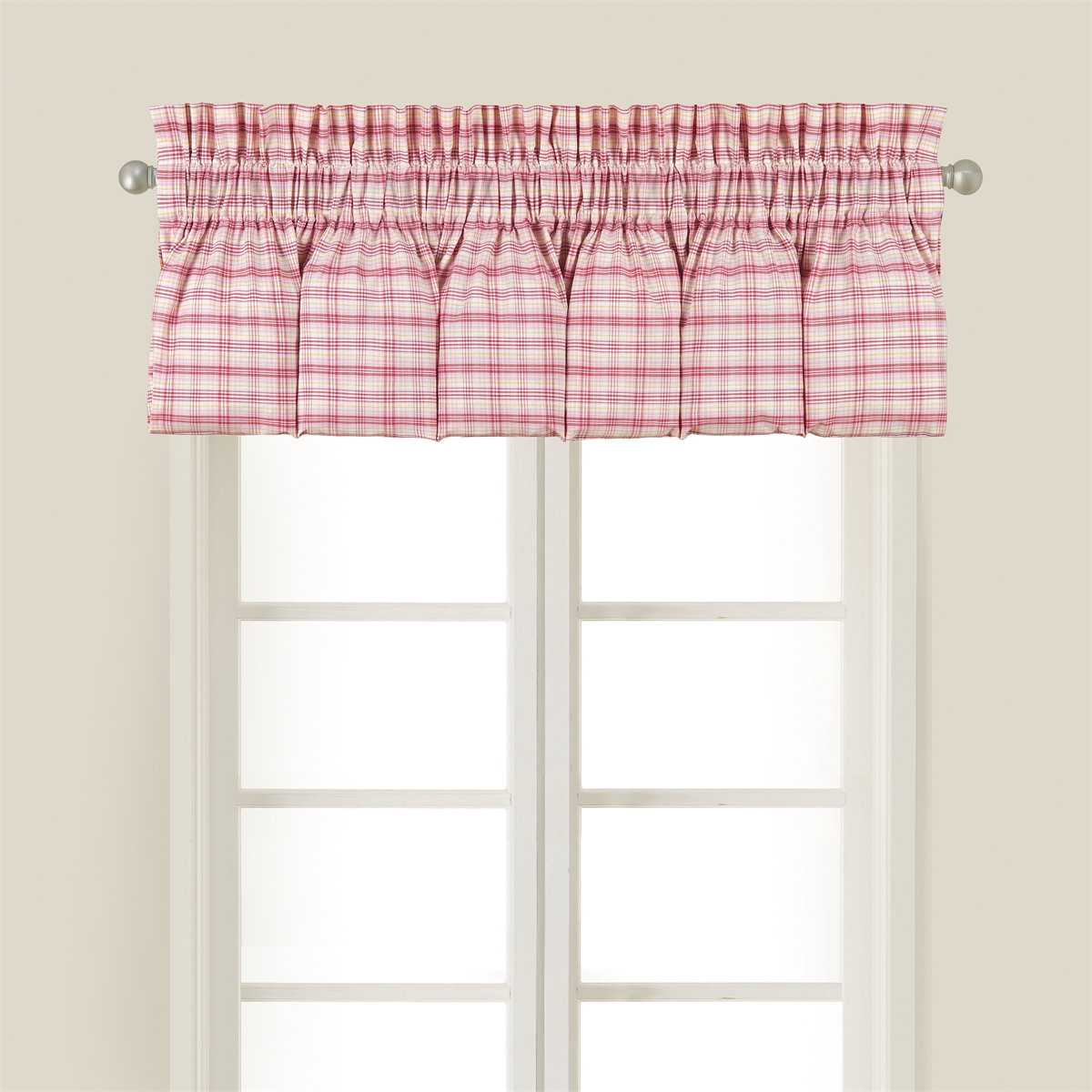 Pink Plaid Valance