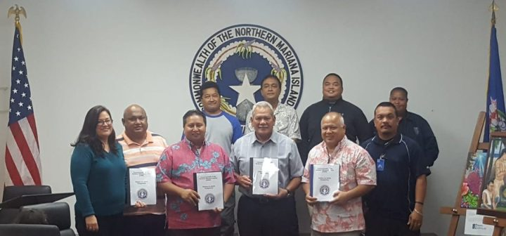 Governor Ralph DLG. Torres, Secretary of Finance Larrisa Larson, Department of Public Safety Commissioner Robert Guerrero, Customs Service Director Jose Mafnas and members of CNMI's law enforcement agencies met for a brief presentation by Attorney General Edward Manibusan on Friday, July 6, at the Governor's conference room