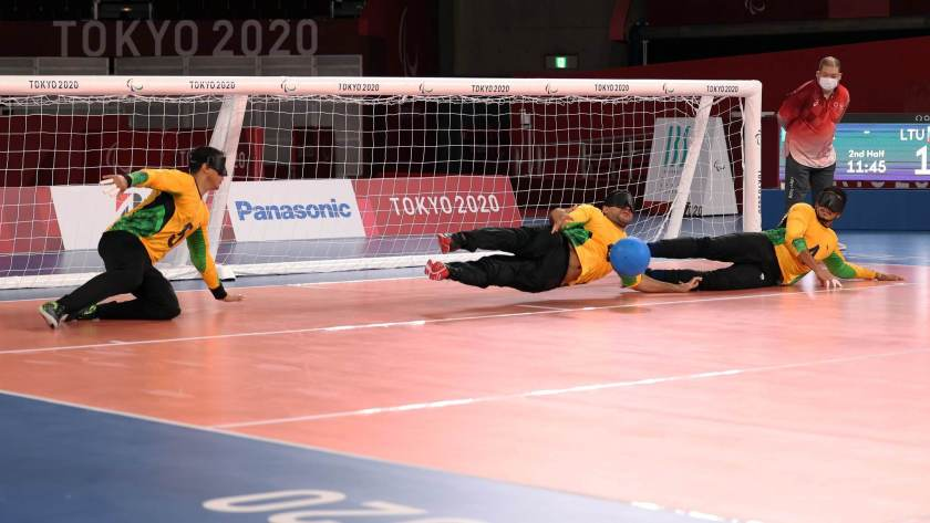 Brazilian men's goalball team beat Lithuania 11-2 in their Tokyo debut