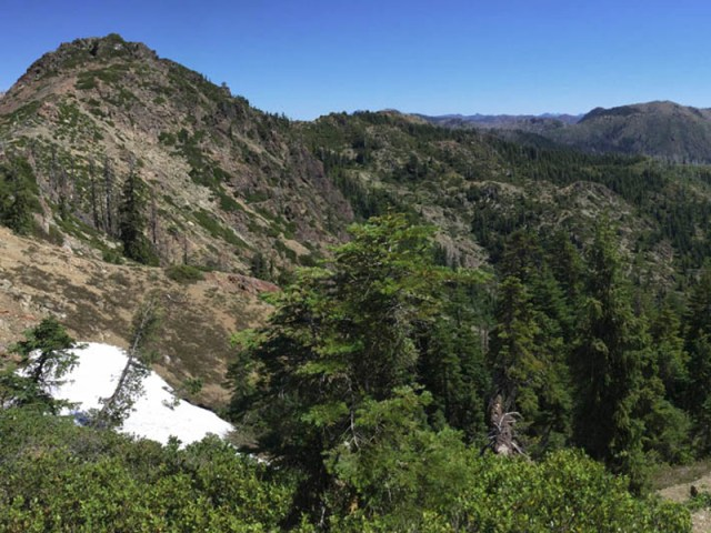 Elk Hole from the southern ridgeline. Credit Michael Kauffmann.