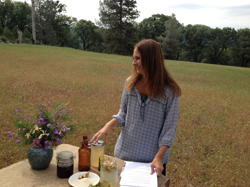 Author and culinary forager Alicia Funk develops recipes using native foods.